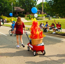 UU Chalice on Parade in Mason, Ohio